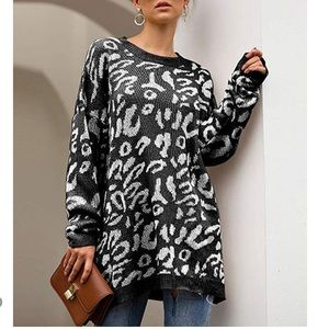 Camouflage Leopard Tunic Sweater Top